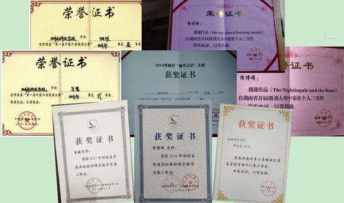 学院老师在各种竞赛中获奖